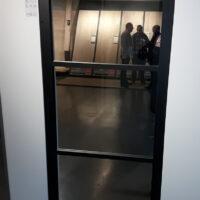 Steel Look deur - 3 ruit