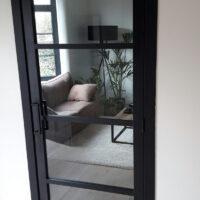 Steel Look deur - 4 ruit
