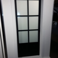Steel Look deur - 6 ruit met paneel